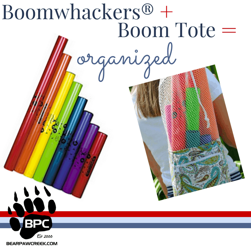 Boomwhackers® Boom Tote Get Organized Recreation Therapist Music Therapy