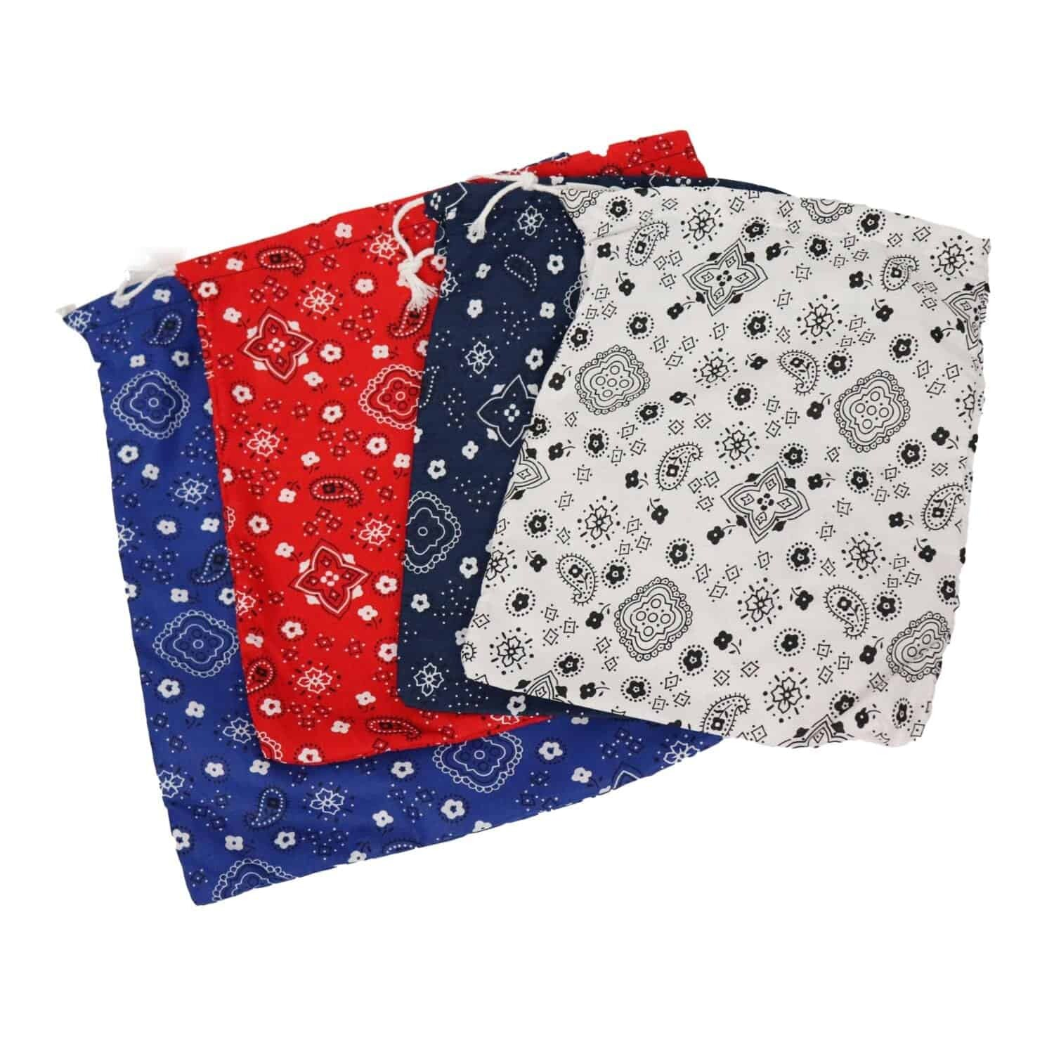 Affordable Organizational Tool Bandana Print Drawstring Bag in Four Sizes Music Therapy Parents