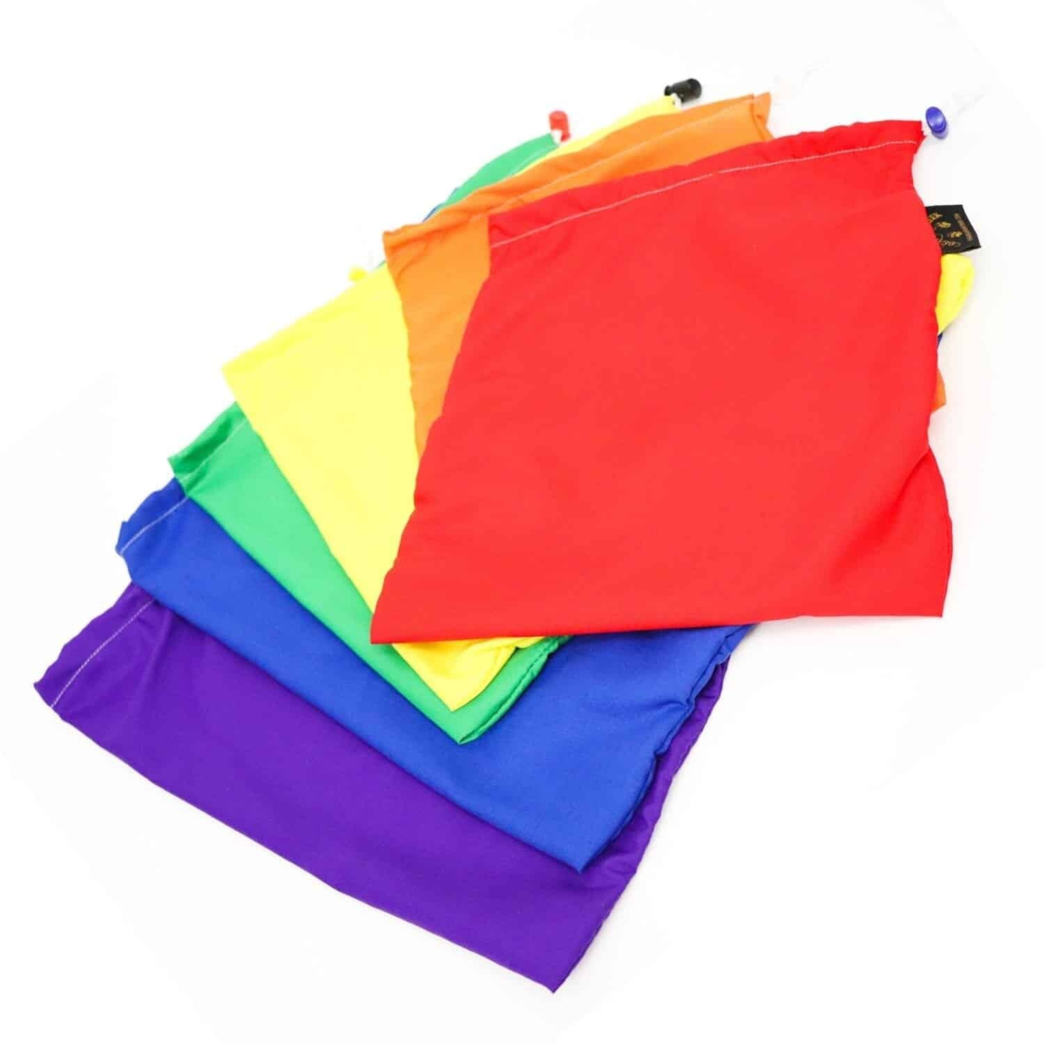 Rainbow Set Drawstring Bags Organizational Product Music Therapy Home Schoolers